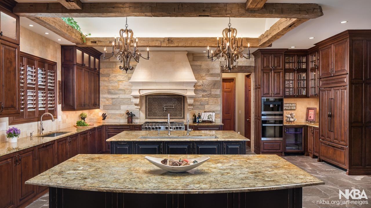 Tuscan style kitchen - NKBA