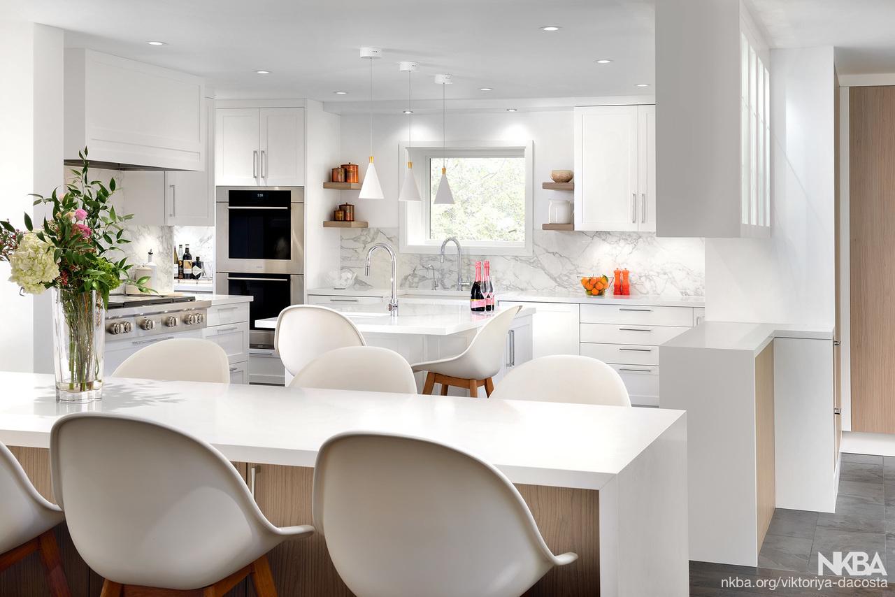 Beautiful White Kitchen - NKBA