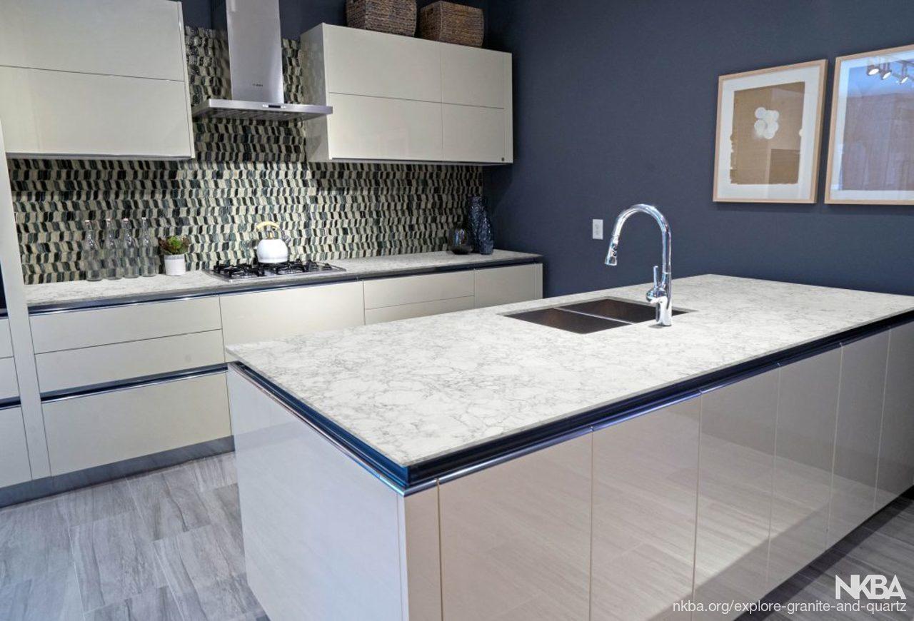 Modern Kitchen Space With Quartz Countertops Nkba