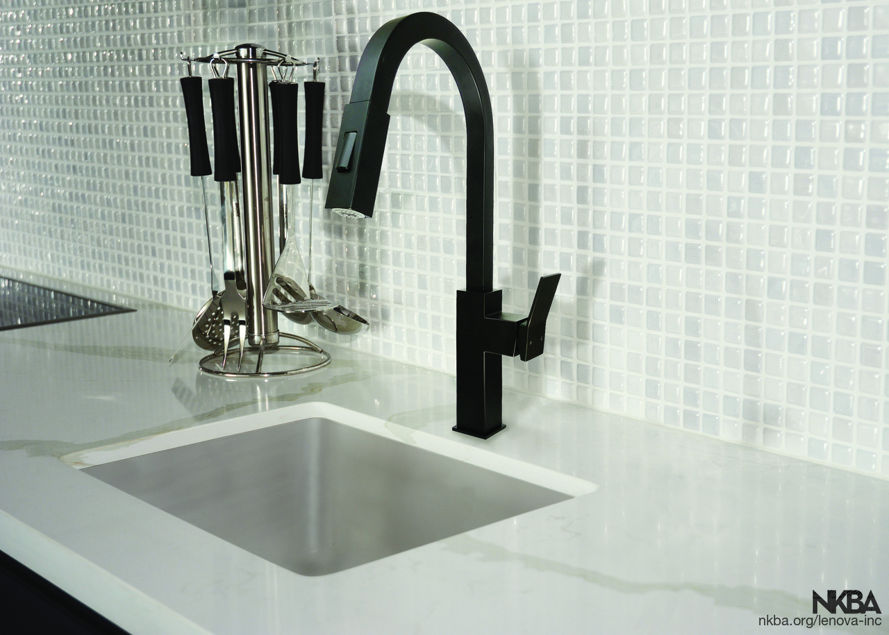 Matte Black Pull Doen Solid Stainless Steel Kitchen Faucet Nkba