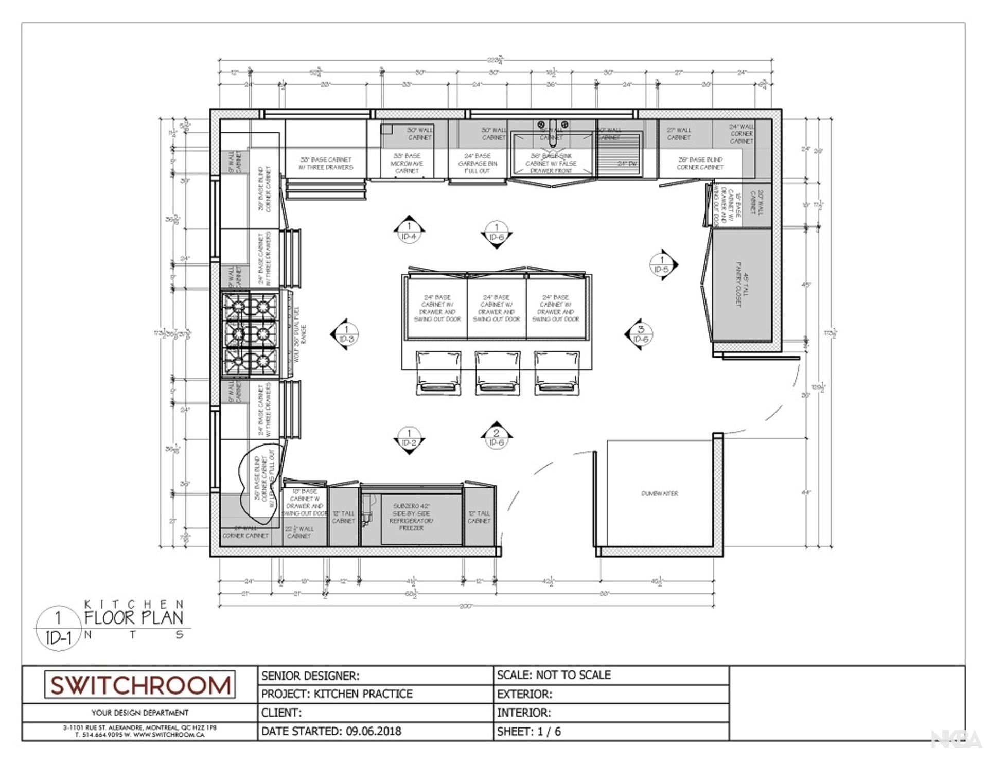 Kitchen Floor Plan   NKBA