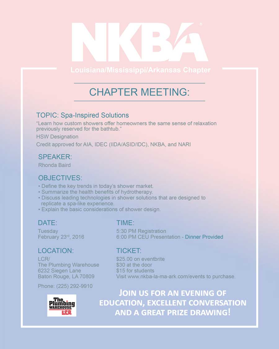 NKBA LA/MS/AR Chapter - NKBA